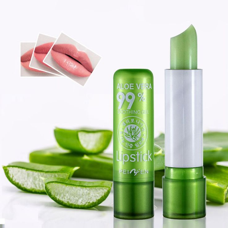 2016 Vrouwen Cosmetische Make Natural Aloë Hydraterende Veranderende Lippenstift Waterdicht Lipstick Kleur Groene Kleur