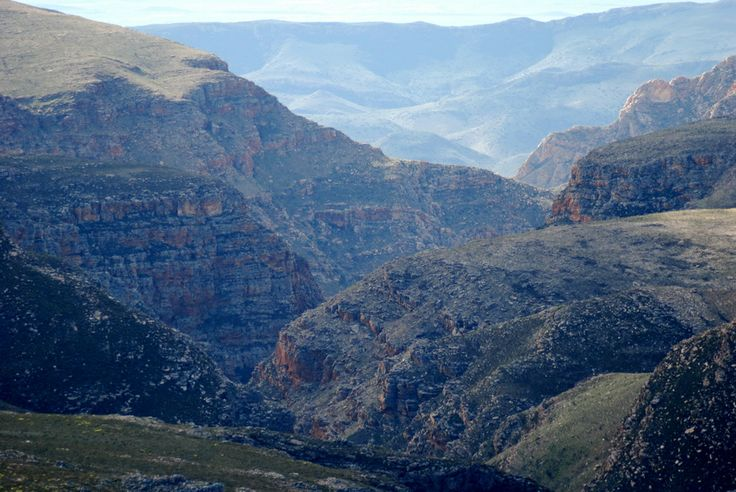 A view from the Swartberg pass facing north near Oudtshoorn, South Africa.