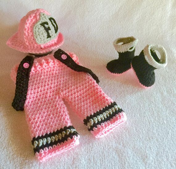 Firefighter Baby Clothes Pink Pick
