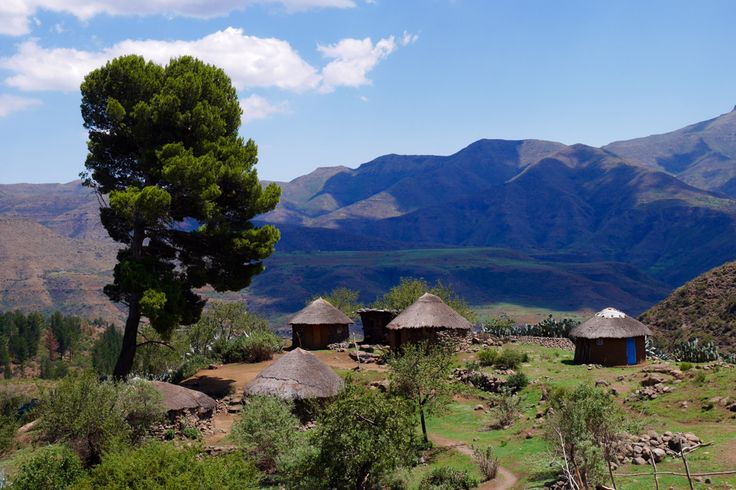 Road trip to Semonkong. One of many small villages in Lesotho.