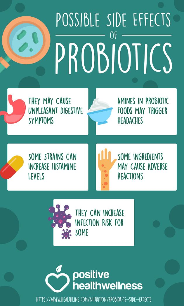 5 Possible Side Effects of Probiotics – Positive Health Wellness Infographic