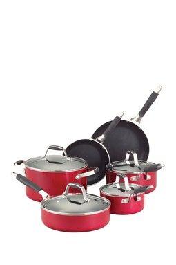 HauteLook | Guy Fieri Cookware: Guy Fieri Nonstick Aluminum 10-Piece Cookware Set - Red