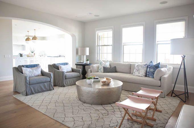 Modern Coastal Family Room featuring our Zuma rug by Jaipur | Becki Owens Design