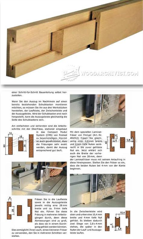Making Wooden Drawer Slides - Drawer Construction and Techniques | WoodArchivist.com