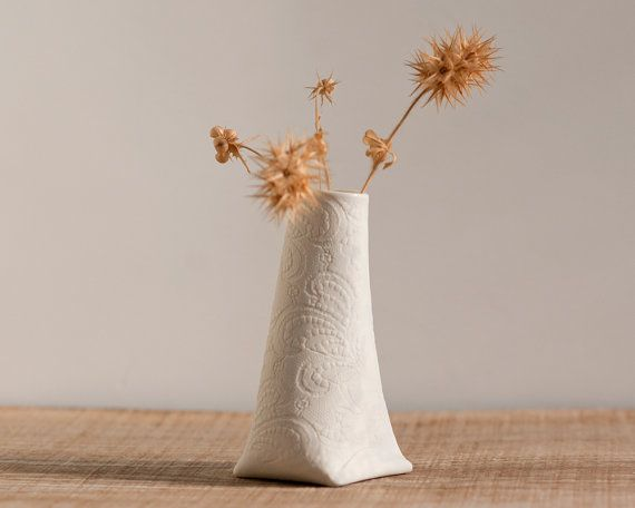 Decorative porcelain mini vase. Artful ceramic mini vessel. Artful Dodger Variations (Object N.1) by Wapa Studio.