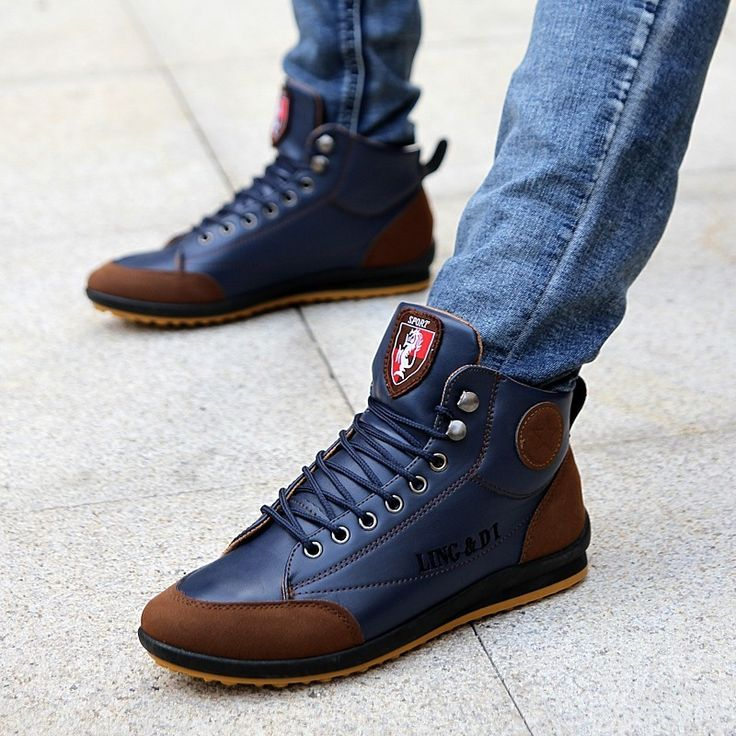 New Fashion Men Moccasins Shoes Sneakers Ankle Boots Warm Cotton Boots Button Causel Flats sneakers Shoes