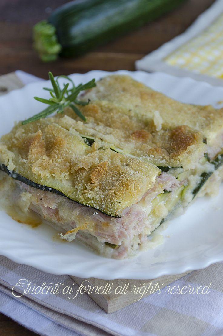 parmigiana light di zucchine con prosciutto e mozzarella al forno ricetta parmigiana bianca senza sugo