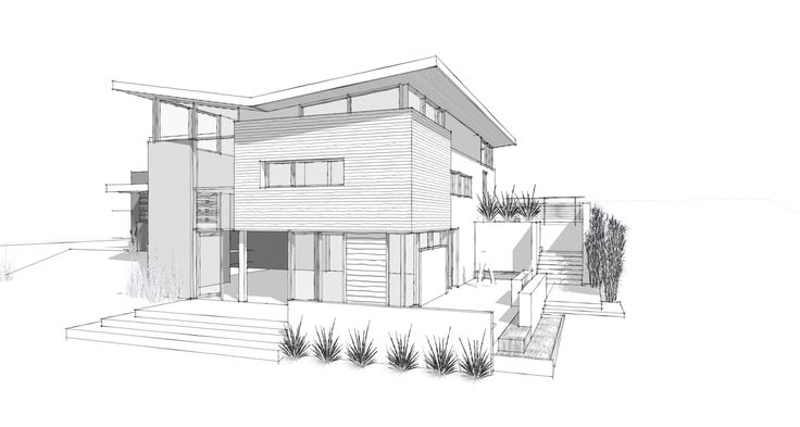 Modern Home Architecture Sketches | Joigoo � All About The House ...
