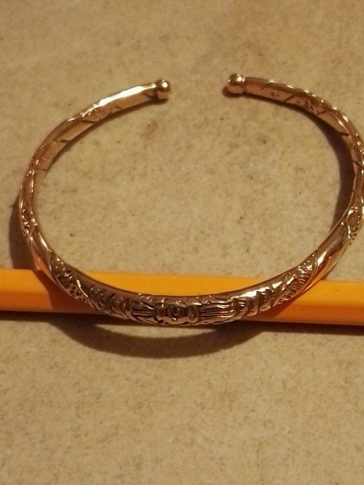 """Armring til håndled eller underarm..  """"spiral snonet ornamentik"""" Kan justeres i diameter så det passer dig...  Bronze  275 kr."""