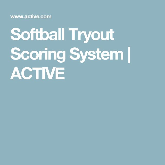 Softball Tryout Scoring System | ACTIVE