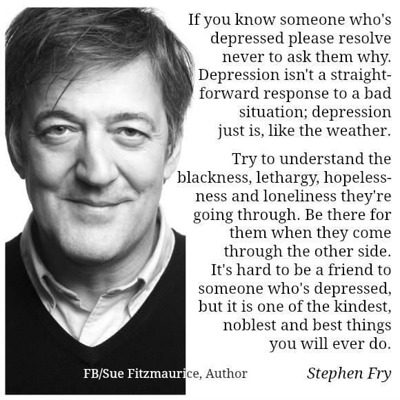 Stephen Fry on friends with depression.