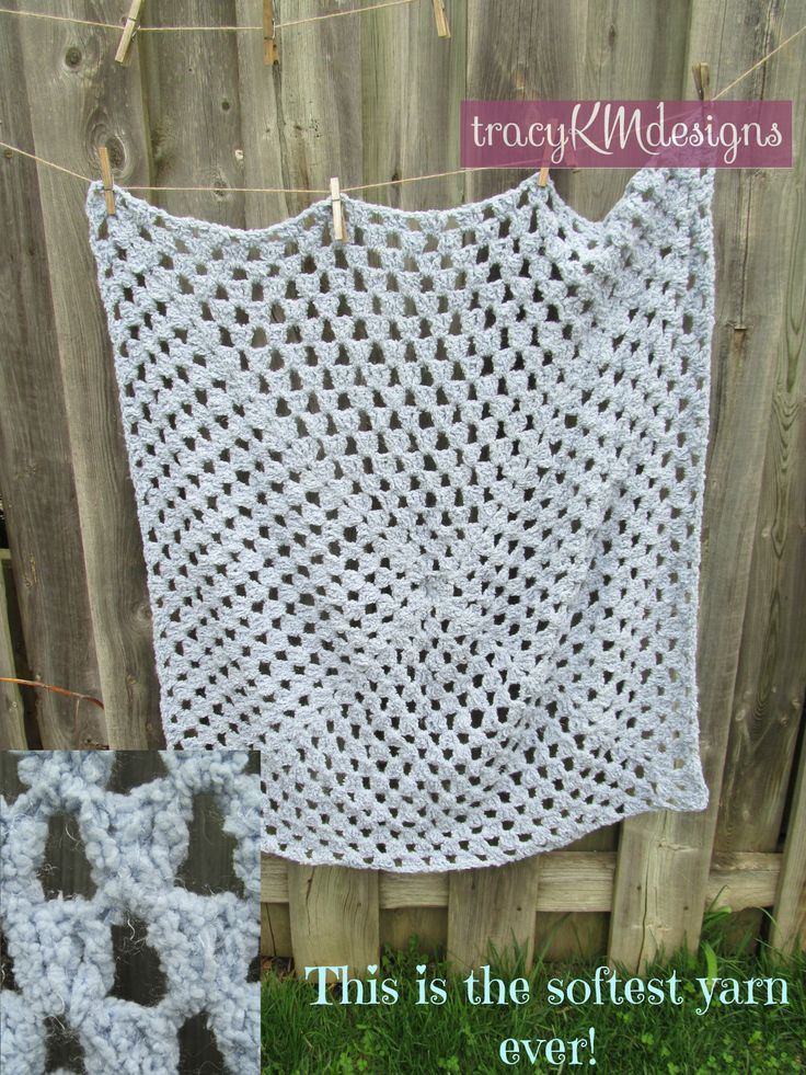 """This is the softest yarn you'll ever feel.  Nice and simple, crocheted for good ventilation and gribability!  35"""" across"""
