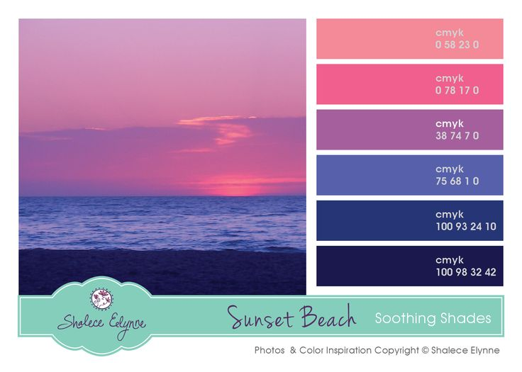 Pink Purple Blue Sunset Pallet Painting Interior