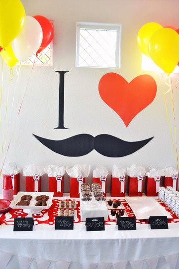 Adorable Mustache Bash party idea    http://www.apartmenttherapy.com/best-kids-parties-mustaches-my-party-179825