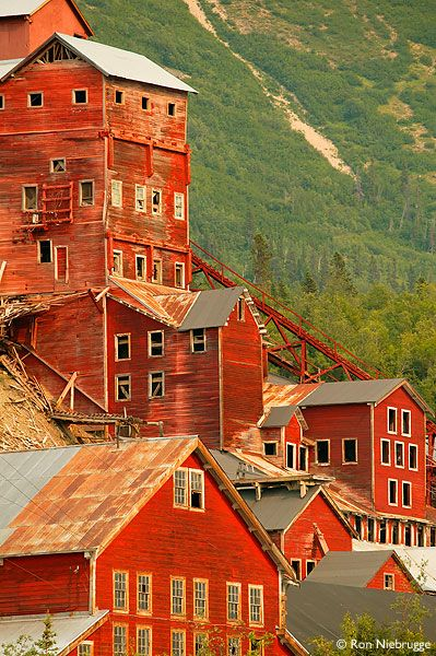 Kennicott Mill, Alaska. This copper mill operated from 1911 to 1938, when it and the town around it was abandoned.