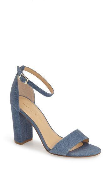 Ivanka Trump 'Klover' Block Heel Ankle Strap Sandal ...