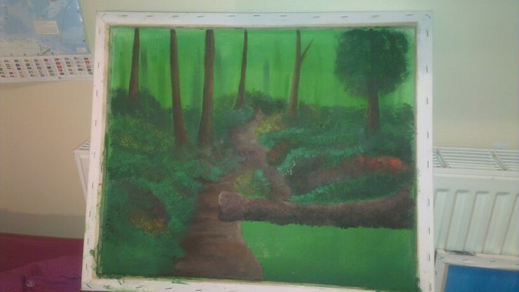Forest scene. Not yet finished.