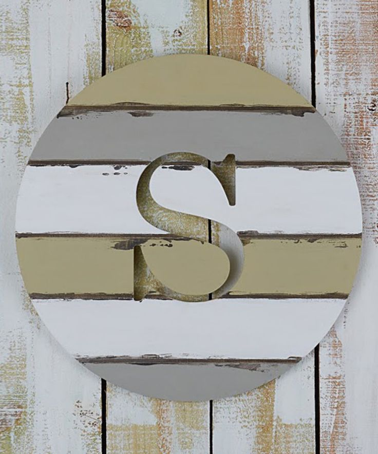 Take a look at this Unfinished Grooved Circle Initial Wall Art today!