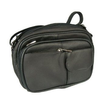 Genuine Leather Womens Handbag Organizer (LICA-30139-Pebbled Black),, www.LadiesStylish.com ... Wow. #FASHION