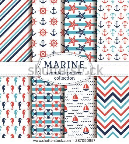 Inspiration trainers asics Web              d  vector set of marine and nautical backgrounds sea theme seamless patterns collection vector           jpg Dev   cheap