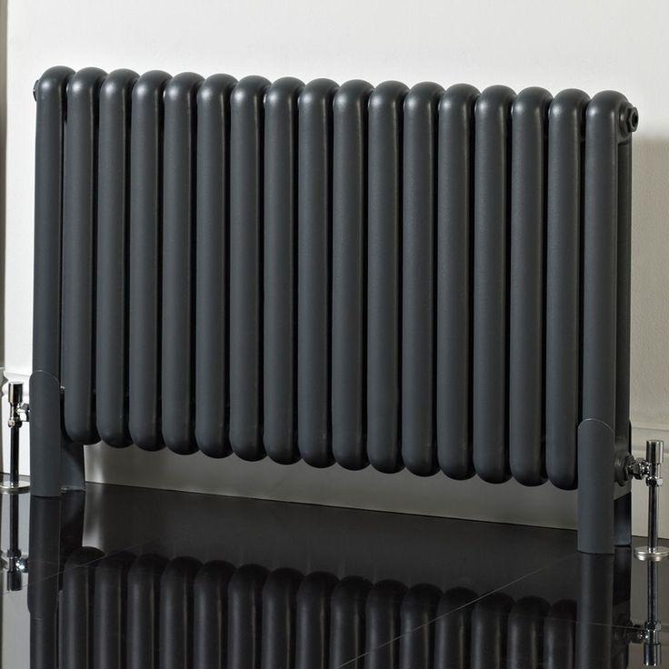 Phoenix Lilly - Anthracite Column Horizontal Designer Radiator 600mm x 850mm