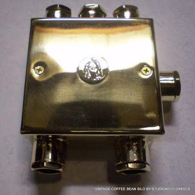 STUDIO NIOTIS: Vintage Bronze industrial boxes for external wirin...