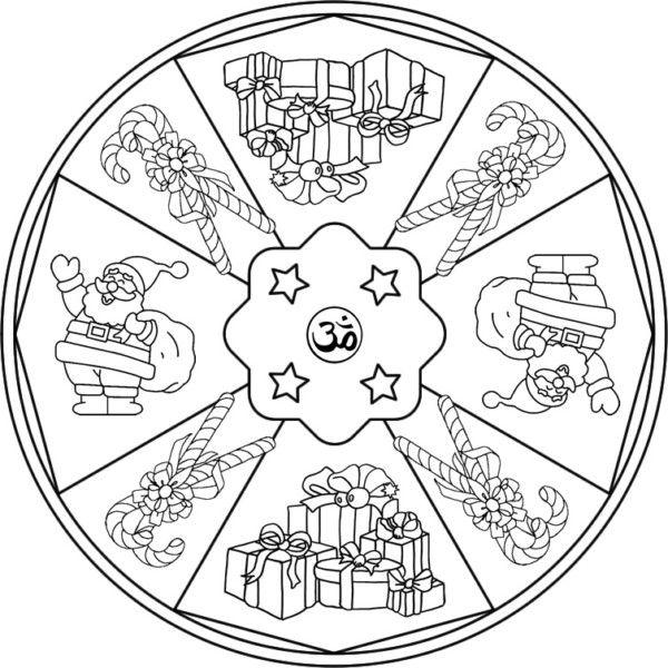 Mandalas Navidenos Disenos Para Ninos Y Para Colorear En Navidad Mandalas Navidenas Mandalas Para Colorear Mandalas De Navidad