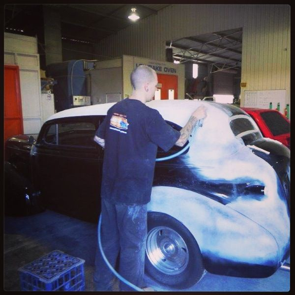 In the workshop for the 1939 Chev