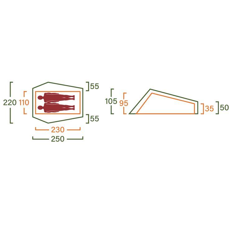 Helsport Ringstind Superlight 2, tält Blå Vandringstält