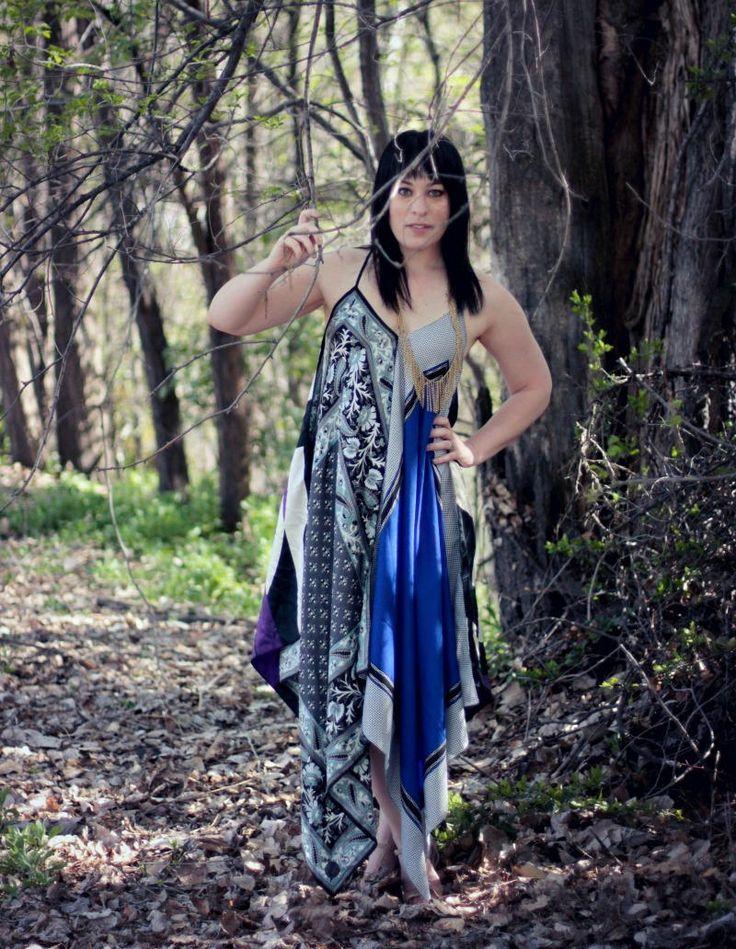 Boho Scarf Maxi Dress