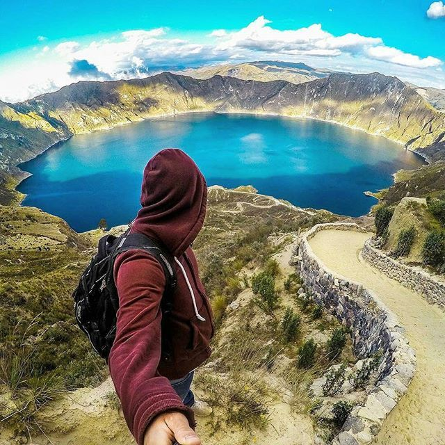 Ecuador is not to be missed! The spectacular crater lake; Laguna de Quilotoa, lies only 3 hours south of Ecuador's historical capital Quito Hikers can take the 'Quilotoa Loop' starting in Latacunga and take the southern route through Zumbahua in the Cotopaxi province Along the way you'll encounter colorful indigenous markets and ancient trails that meander in the shadow of snow-capped volcanoes. The isolation of the loop brings you into contact with lots of Quechua speaking indigenous peo...