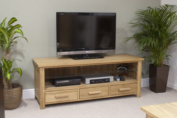 Geneva Oak Plasma TV Unit