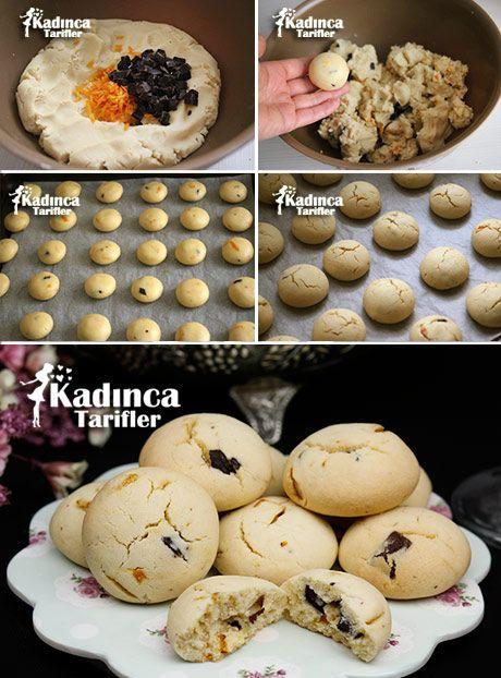 PORTAKALLI ÇİKOLATALI KURABİYE TARİFİ http://kadincatarifler.com/portakalli-cikolatali-kurabiye-tarifi