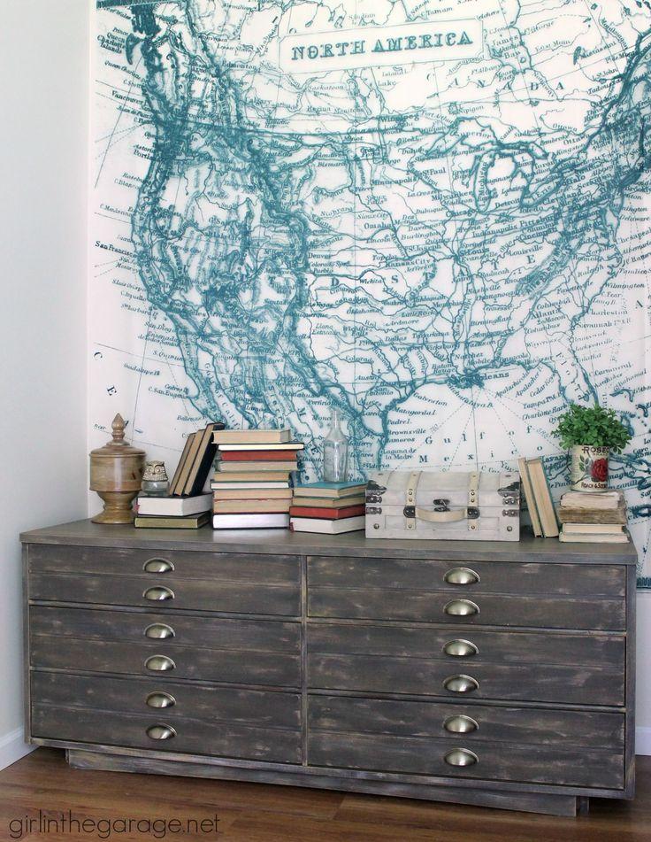 Anthropologie Inspired Industrial Dresser - Themed Furniture Makeover