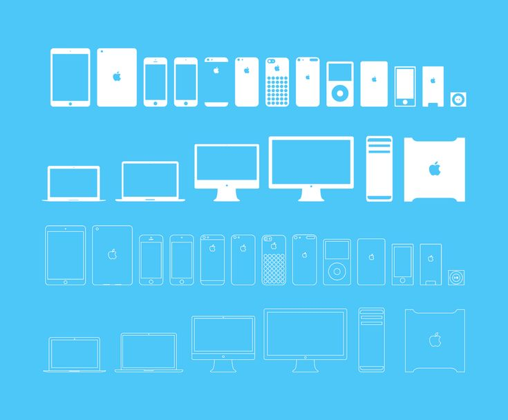 Apple Devices Icons Full & Outline