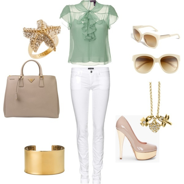 mint and gold, created by em-kay #wonderful