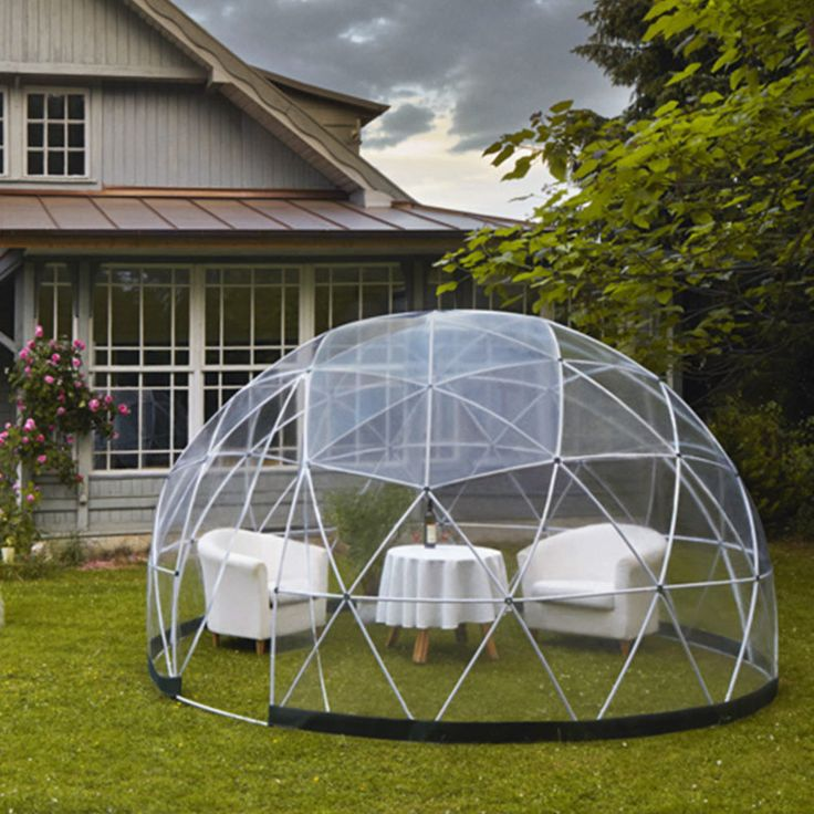 Garden igloo tente transparente jardin d 39 hiver abri serre g od sique 3 6m u directchezvous - Igloo de jardin ...