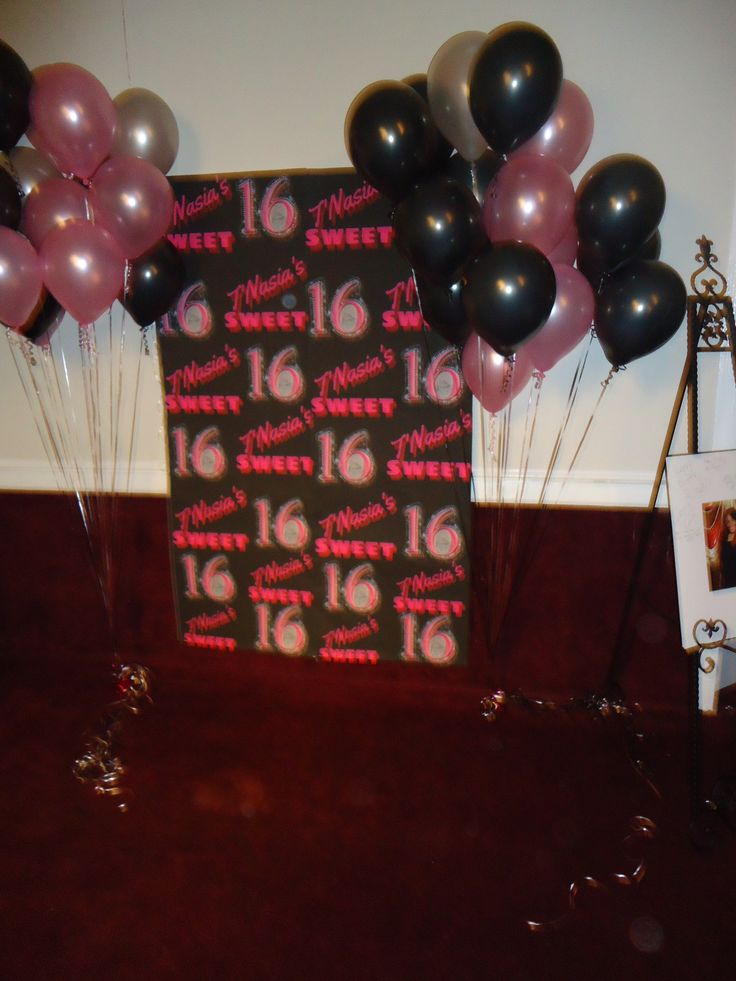 Sweet Sixteen Backdrop I Created The Backdrop In Quot Paint