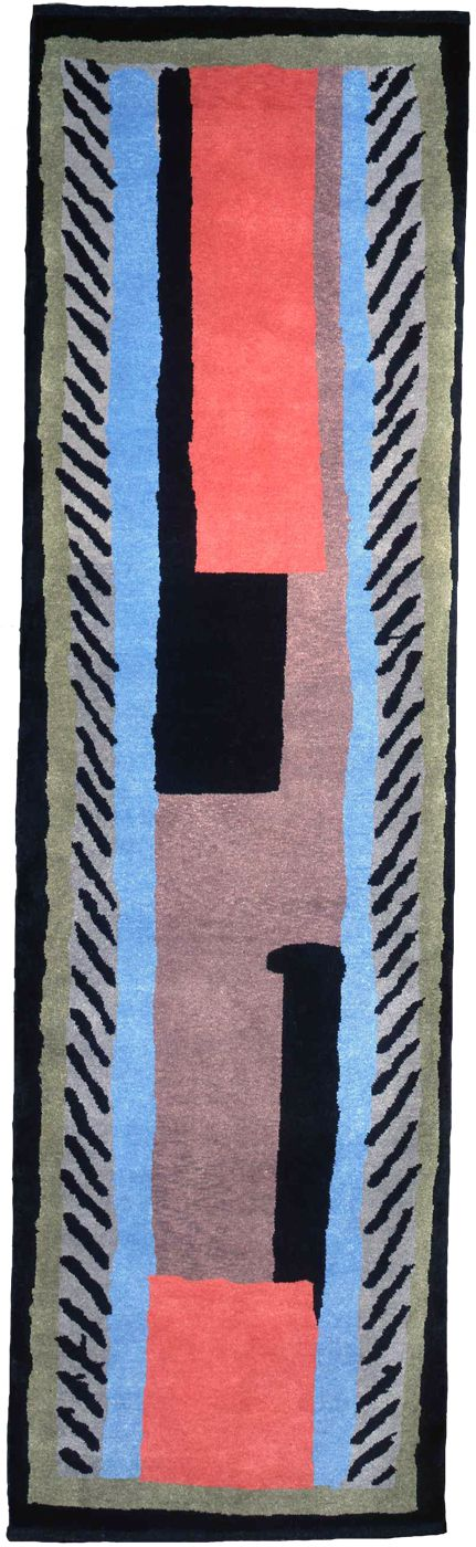 * Rug Design - Conf 954 Omega Workshop Produced from an original design attributed to Duncan Grant