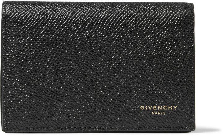 Givenchy Eros Pebble-Grain Leather Cardholder
