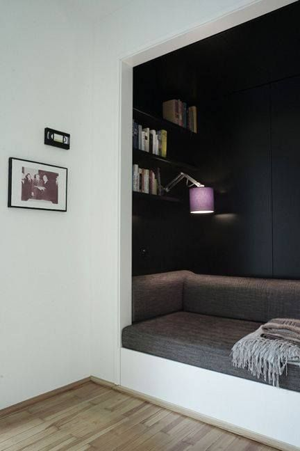 For child's room, turn extra closet into sitting/study area. Now I wish I had an extra closet!!