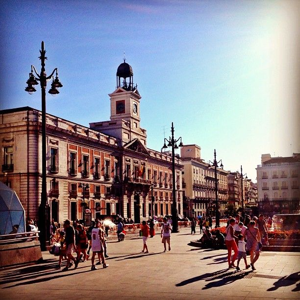 """Puerta del Sol is a place too and it's also a famous place with the big demonstration from """"los indignados"""""""