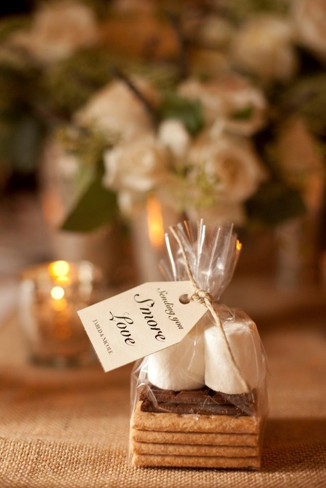 Send guests home with their very own s'mores kits.