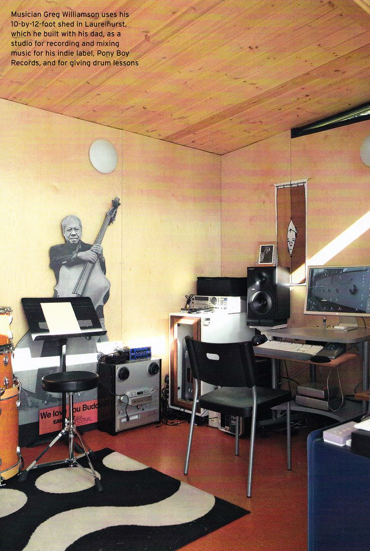 Rock Out In Your Modern Shed Music Room Great Pictures