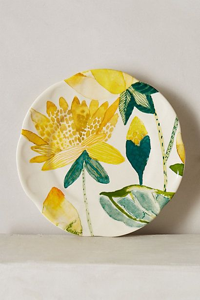 Garden Buzz Dessert Plate #anthropologie