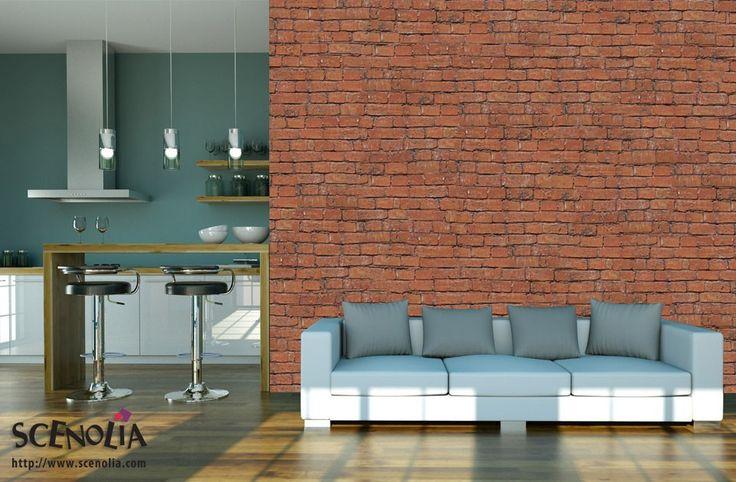 les 25 meilleures id es de la cat gorie papier peint effet brique sur pinterest papier peint. Black Bedroom Furniture Sets. Home Design Ideas