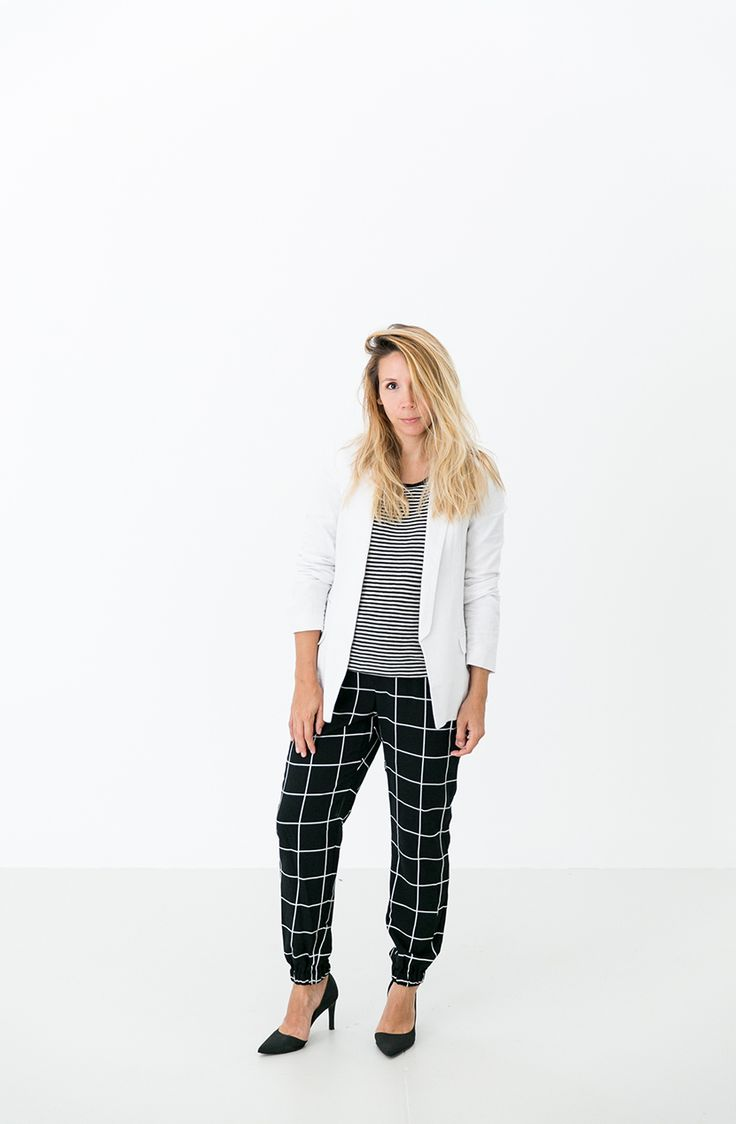 Black and White Pattern Play for Fall with Target Style   The Fresh Exchange