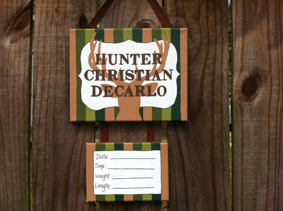 Lillou Handmade Camo, deer hunting baby boy hospital door decoration, baby door sign on Etsy, $35.00