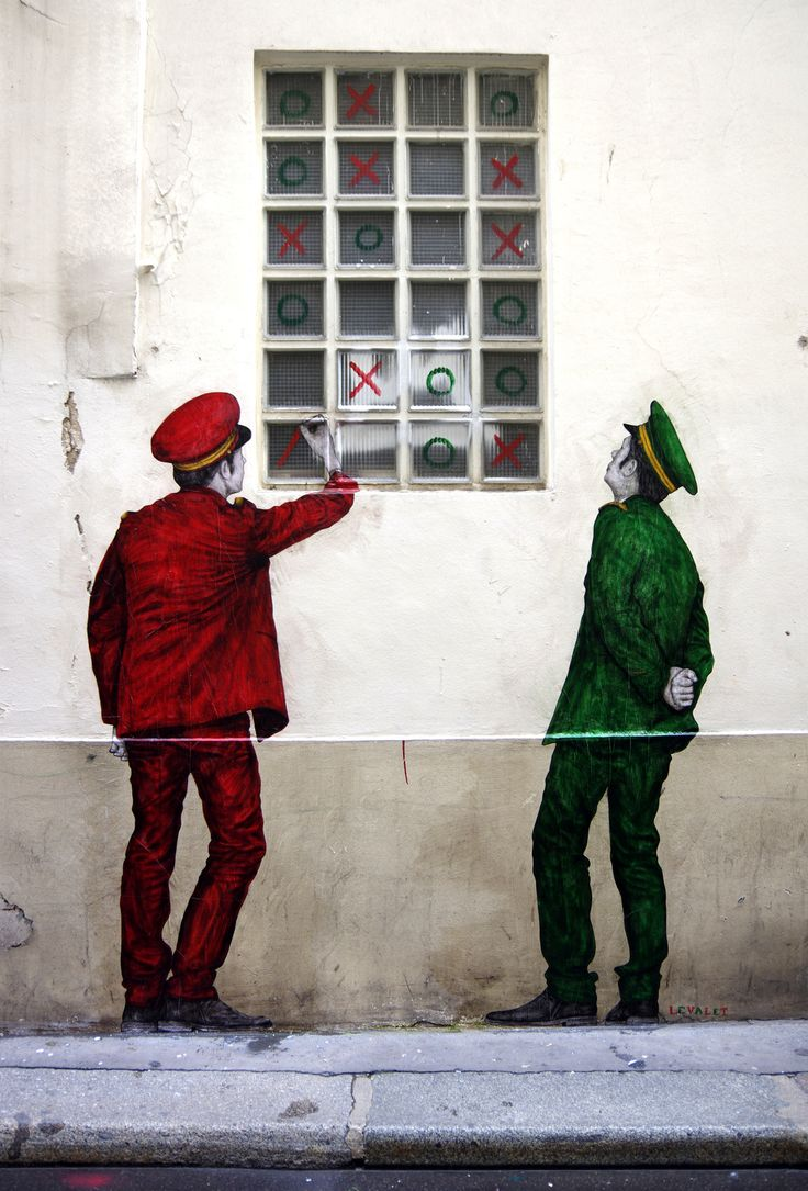 La rue est un terrain de jeux ! / Street art. / By Levalet.