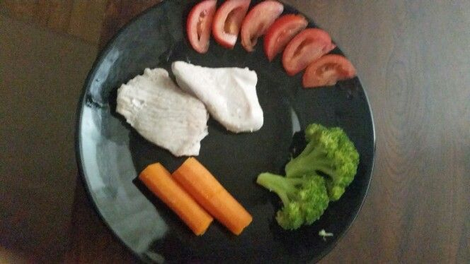 Steamed turkey with vegetables